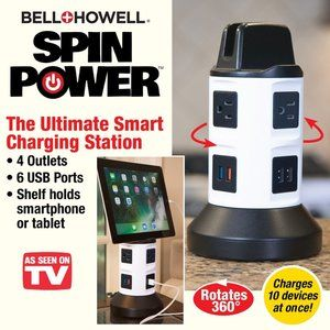 Bell + Howell Spin Power Charging Station in White